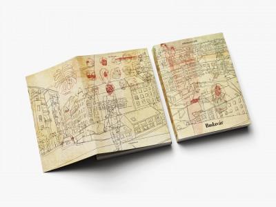 A MúzeumCafé 53. borítója. A címlapot a szerkesztőség felkérésére ezúttal Vidák Zsolt grafikus-illusztrátor tervezte. Vidák Zsolt: S-BP '16 (2016, digitális rajz, a MúzeumCafé részére)