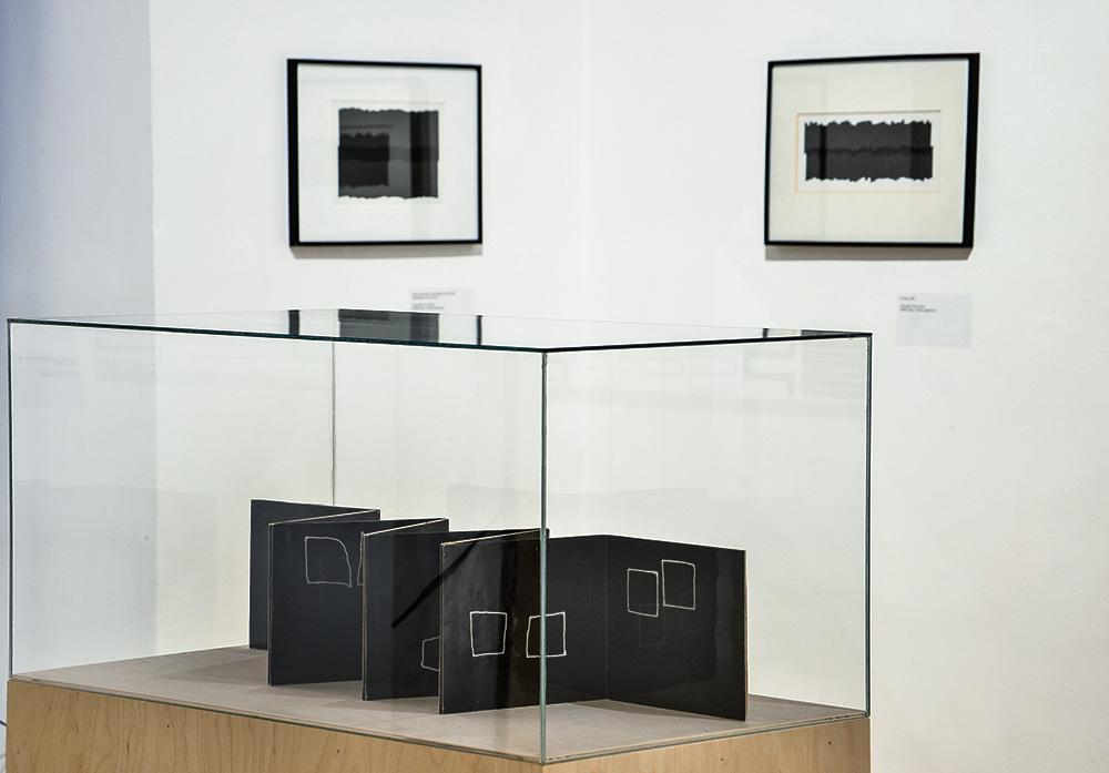 Kiállítás enteriőr a Rendetlenség a rendben - Vera Molnar művészete c. tárlaton. Fotó: Kiscelli Múzeum – Fővárosi Képtár